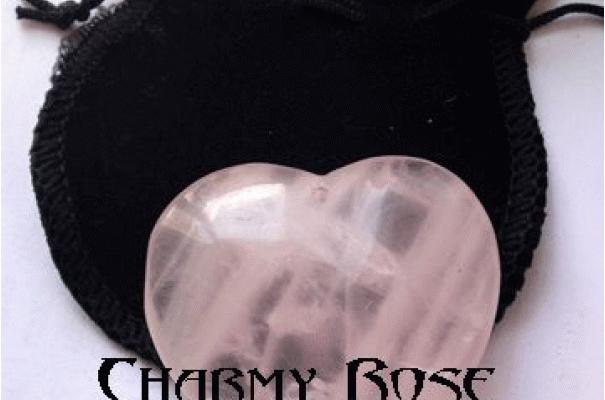 Медальон сърце Розов кварц масивно размер XL за привличане на любов