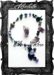 Комплект бижута аметист и кристали Charmyrose. com - дизайнер Rosie