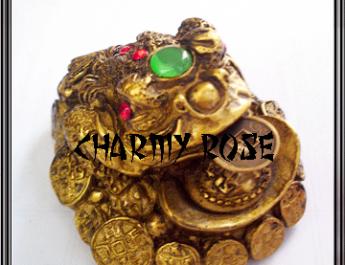 Фън Шуй трикрака жаба за пари charmedastrology. com