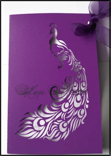 сватбени покани с пауни - http://charmybride.com/