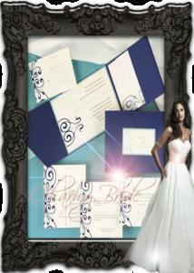 Дизайнерска покана с много вътрешни части - Charmybride.com