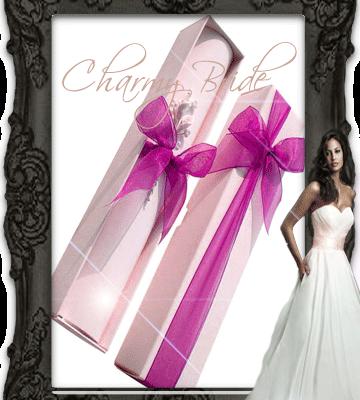 Сватбена покана тип папирус с кутийка - Charmybride. com