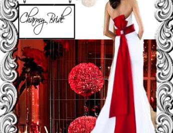 Сватба в червено- Charmybride.com