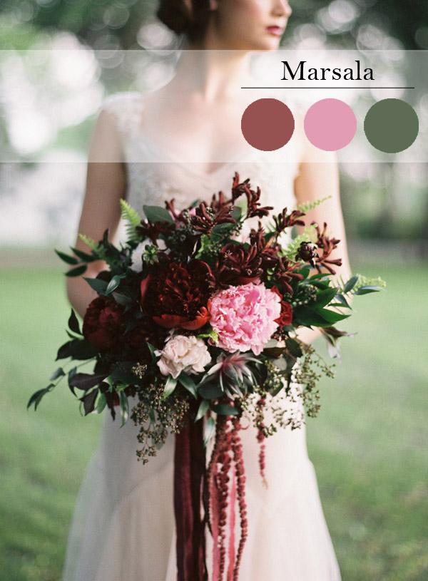 цветове за сватба сезон 2015