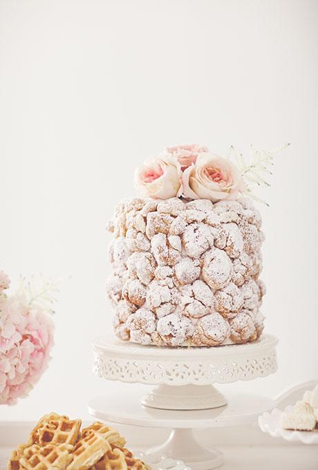 Сватбена торта от еклери