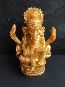 Статуетка на Ганеша в златно - Artofamulets.com