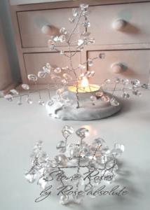 Фън Шуй дръвче-свещник Планински кристал