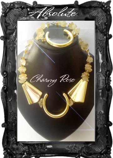 Красив комплект от цитрин от колекцията на Rose Absolute - Charmyrose.com