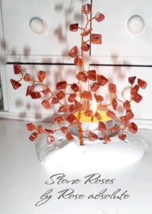 Свещник Слънчев камък- идеалния подарък за роден в неделя човек, съчетаващ силата на камъка и енергията на пламъка