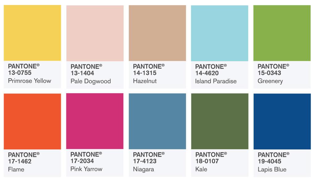 Pantone Модни цветове за сватба през пролетта на 2017г