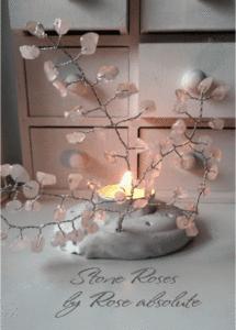 Фън шуй свещник- дръвче Розов Кварц- за любов
