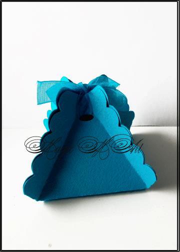 Кутийка за сватбено подаръче в тюркоазено от SvatbaLux