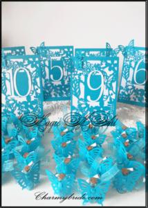 Номера за маса и подаръчета за гости от CharmyBride