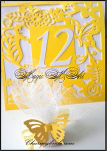 Сватбен номер за маса и подаръче за гости от Charmybride