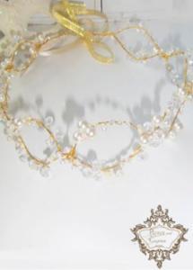 Абитуриентска диадема за коса на мека основа в златно