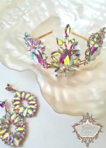 Ефектна абитуриентска корона за коса с кристали
