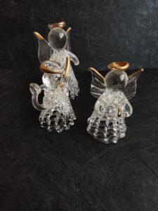 Сватбено подаръче за гости Ангелче кристал с позлата ръчна изработка