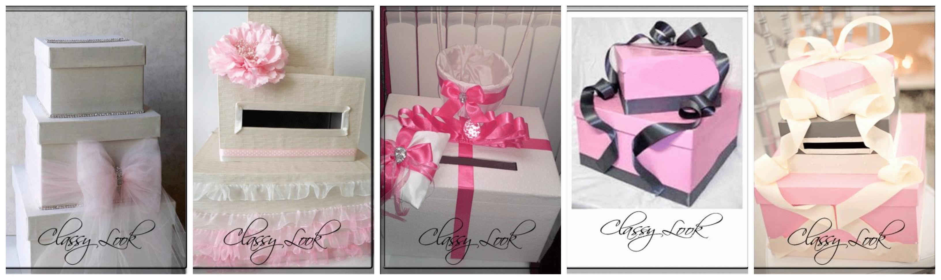 Сватбени кутии за пари в розово