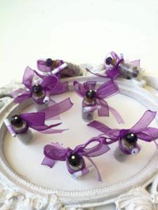 Сватбени подаръчета за гости в лилаво