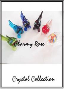 Кристален комплект Фън Шуй рибки за изобилие ръчна изработка 6 бр