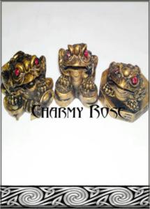 Комплект Трикраки жаби Фън Шуй за богатство