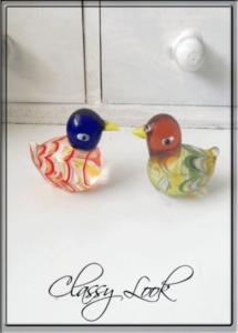 Двойка Кристални ръчно изработени патици Мандарин за любов - различни цветове
