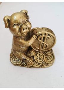 Атрактивен фън шуй амулет за новата 2019 годината на земния глиган за привличане на пари и оборот размер XXXL