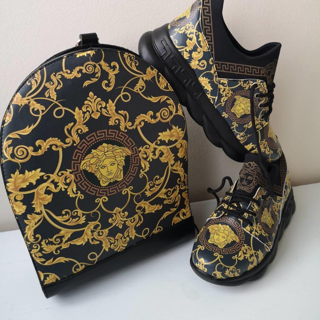 Комплект чанта и обувки Versace