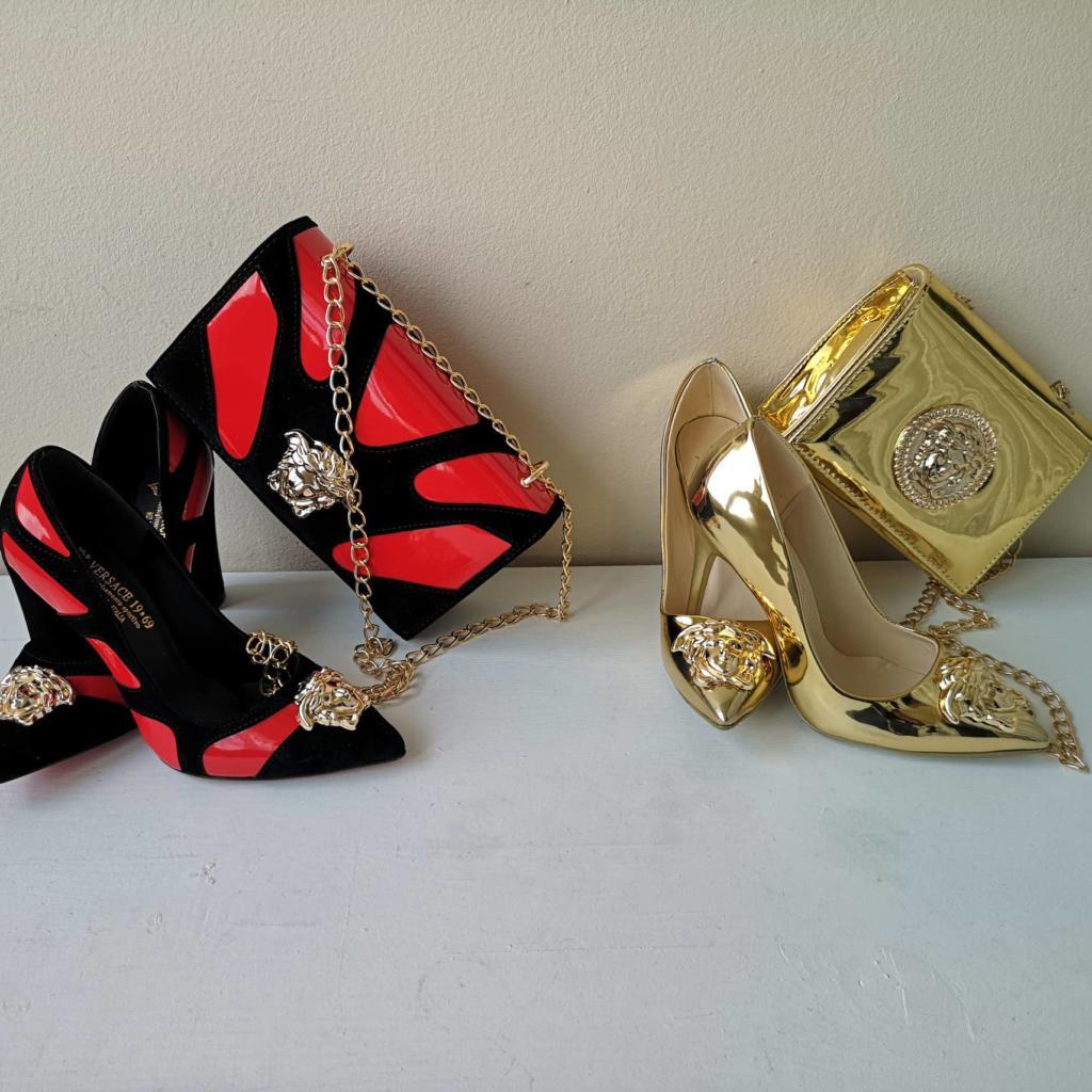 Комплекти дамски чанти с обувки