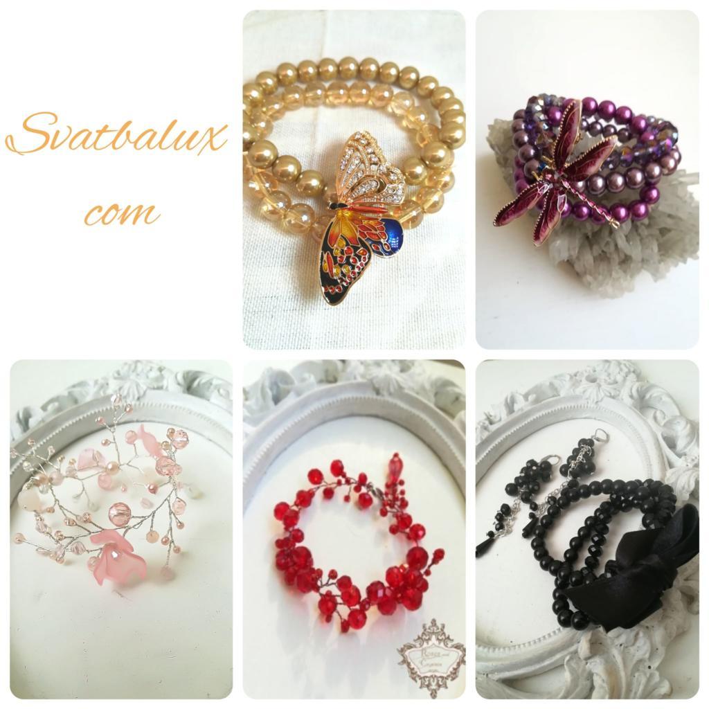 Дизайнерски гривни за официални случаи от Atelier Roses and Crystals - Svatbalux. com