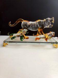 Луксозен комплект 5 цветни ръчно изработени кристални Тигри за любов през 2022 - Годината на Тигъра