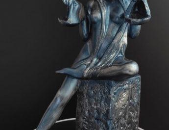 Статуетка подарък за зодия Везни от алабастрит рисуван с натурални пигменти
